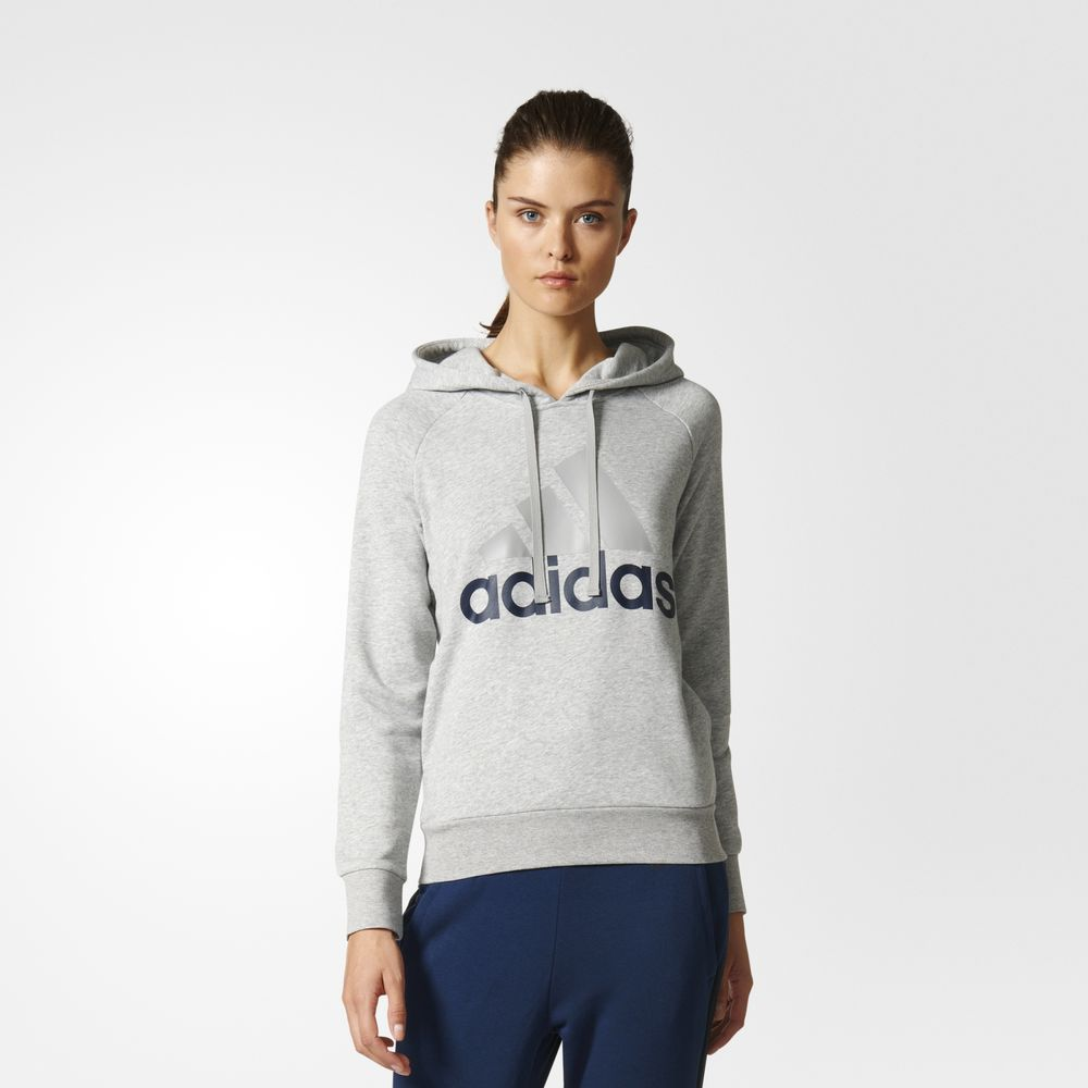 Hanorace Adidas Essentials Linear Pulovere Dama Gri 91013183JA