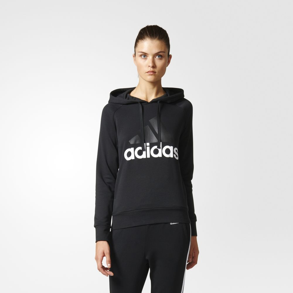 Hanorace Adidas Essentials Linear Pulovere Dama Negrii 80834350TS
