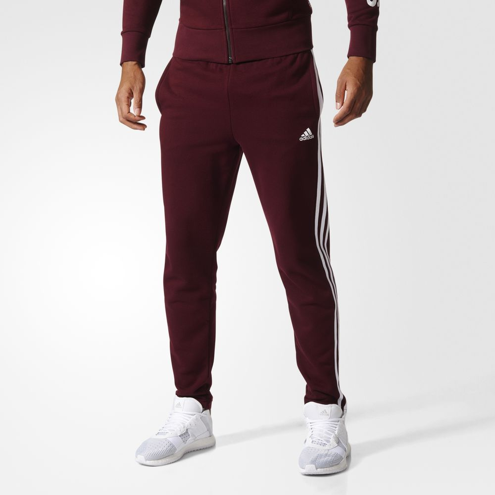 Pantaloni Adidas Essentials 3 Stripes Athletic Barbati Albi Visini 51846923AS