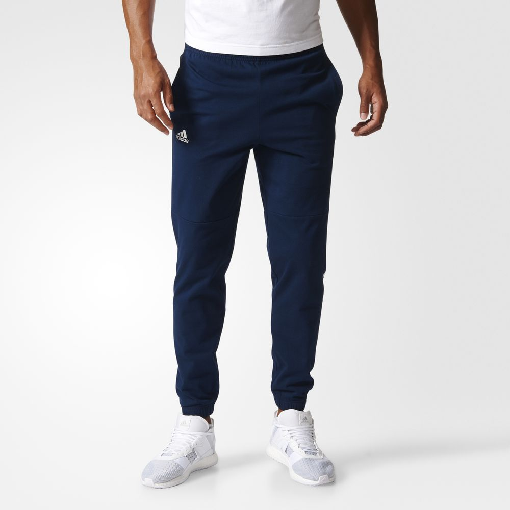Pantaloni Adidas Essentials Linear Logos Athletic Barbati Albi Bleumarin 66096191WU