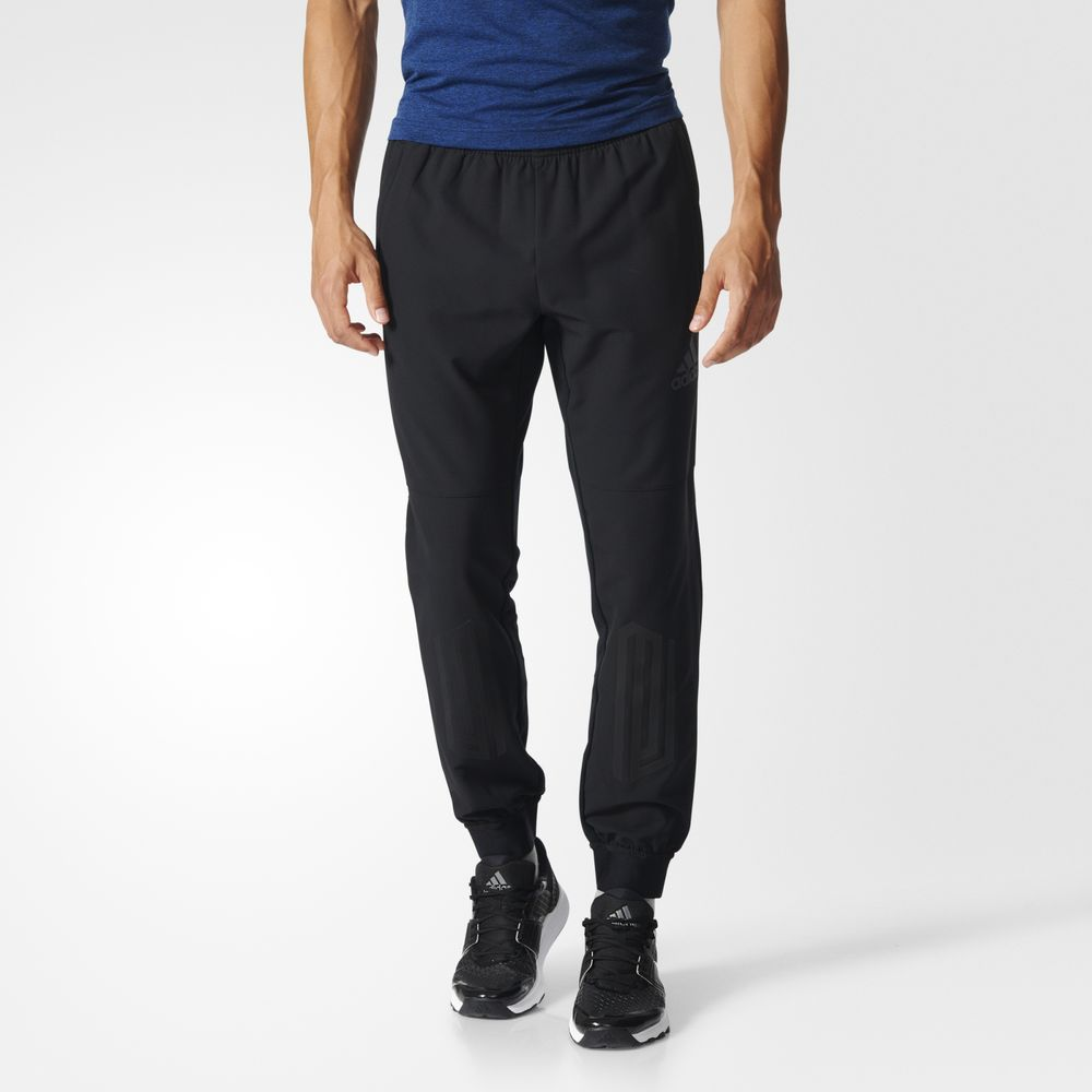 Pantaloni Adidas Extreme Workout Training Barbati Negrii 95204467YU