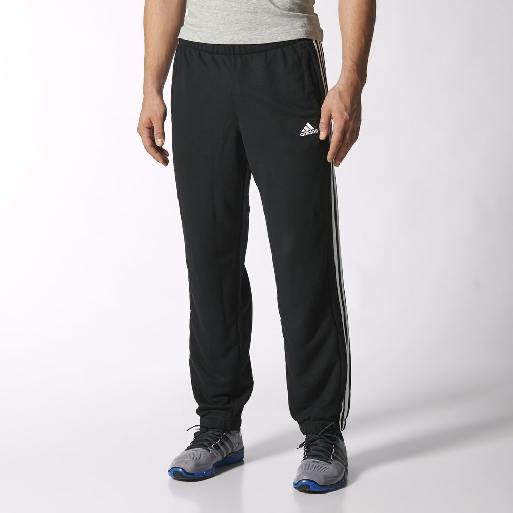 Pantaloni Adidas Sport Essentials 3 Dunga French Terry Athletic Barbati Negrii Albi 46513061LZ
