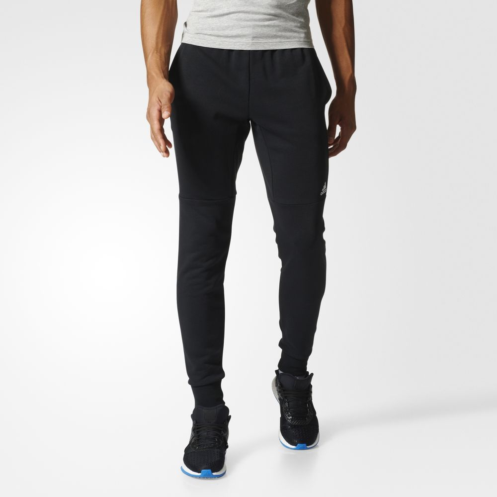 Pantaloni Adidas Super Sport French Terrys Athletic Barbati Negrii Albi 75269775EK