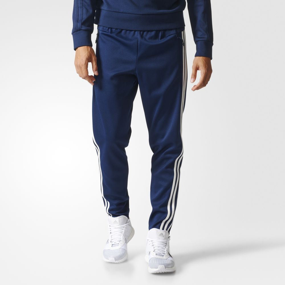 Pantaloni Adidas Tiro 3 Stripes Athletic Barbati Albi Bleumarin 66337890EQ