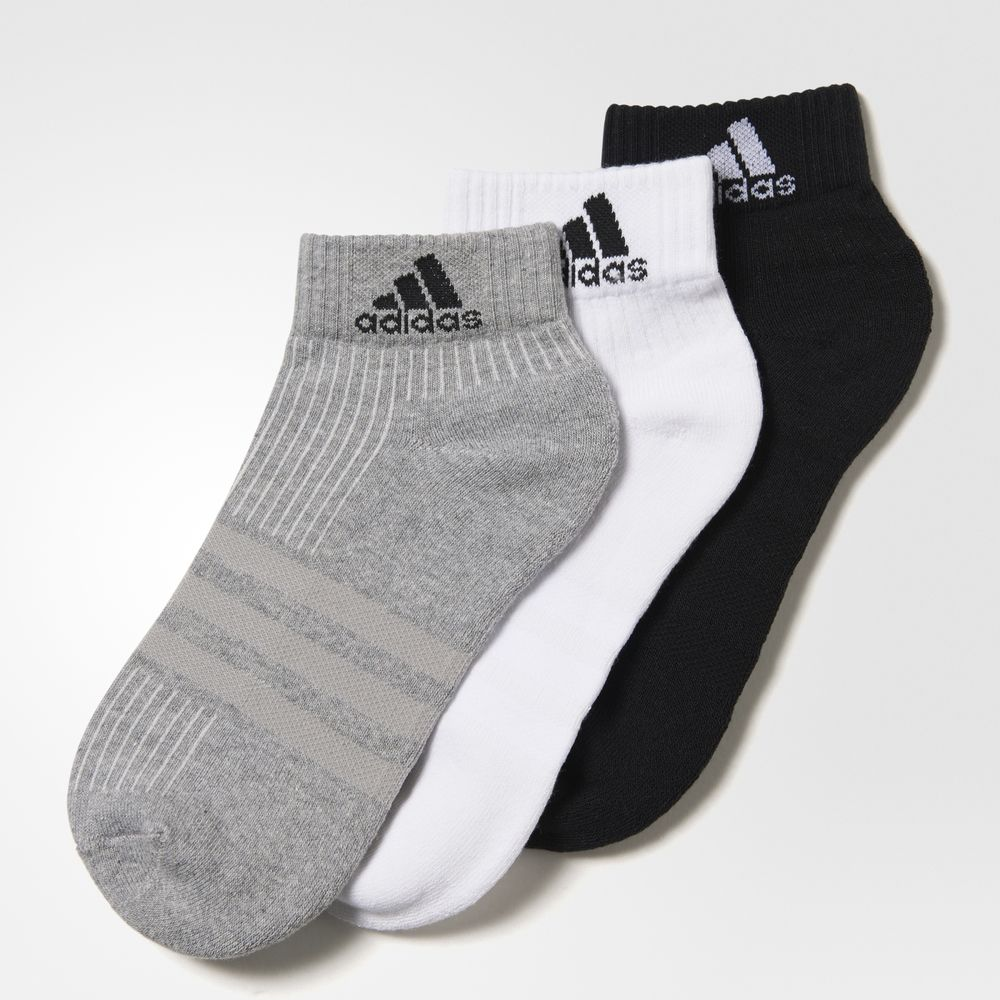 Sosete Adidas 3 Dunga Performance Ankle 3 Pack Dama Negrii/Gri Albi 71754150OW