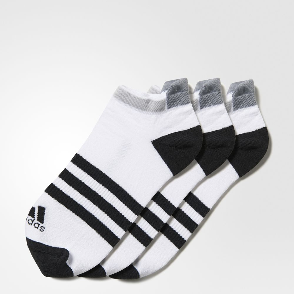 Sosete Adidas Clima Id Cushioned No-show 3 Pack Barbati Albi 31747436TN