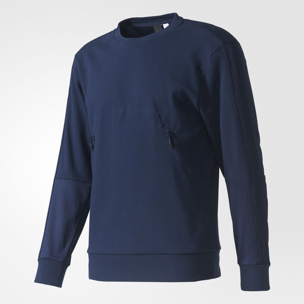 Sweatshirt Adidas Crew Athletic Barbati Bleumarin 49583740IL