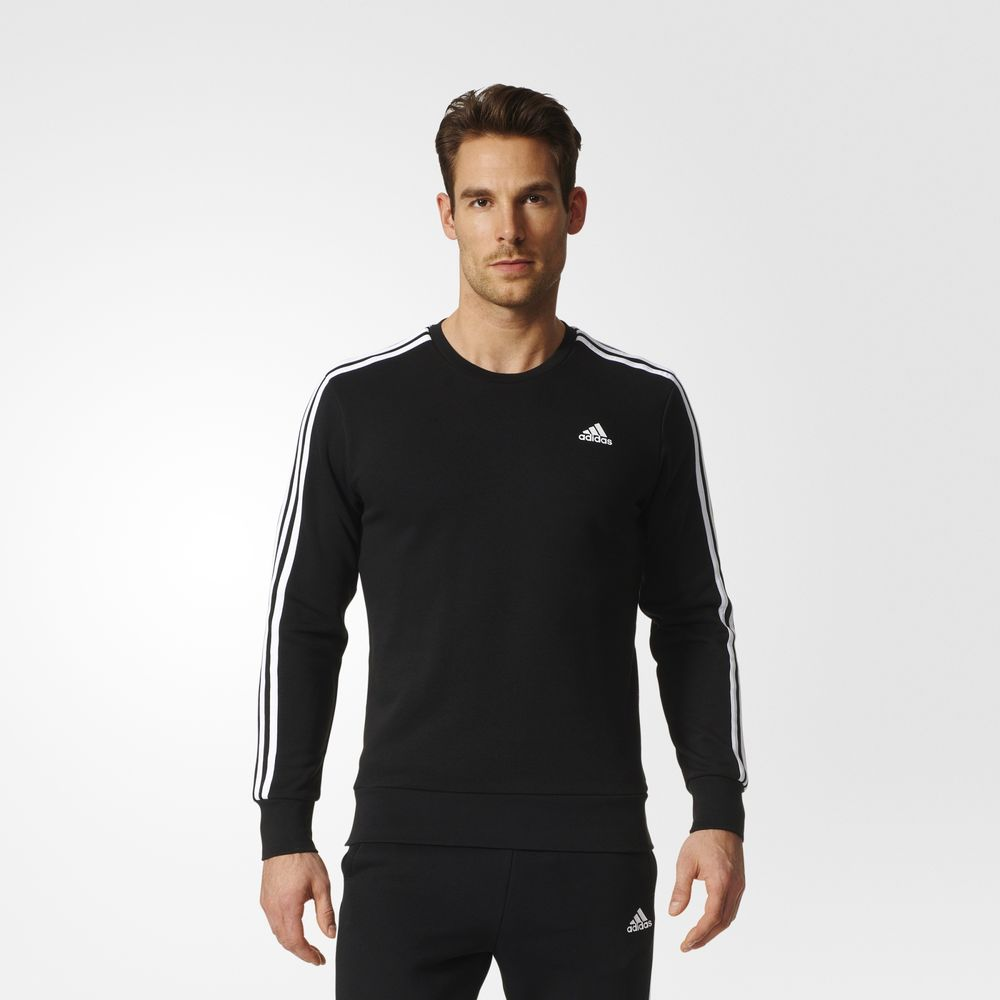 Sweatshirt Adidas Essentials 3 Dunga Athletic Barbati Negrii Albi 35806884GB