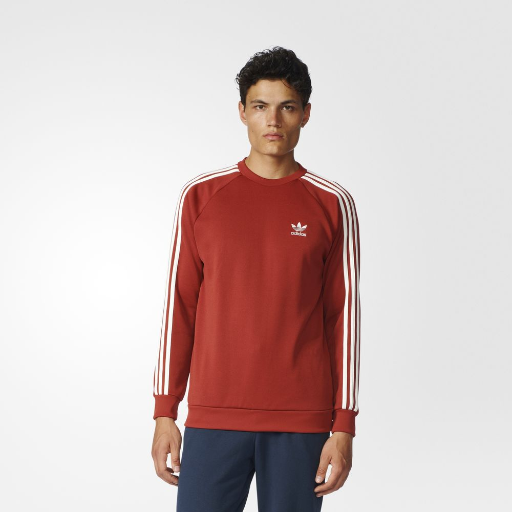 Sweatshirt Adidas Originals Superstar Barbati Rosii 68211059DV