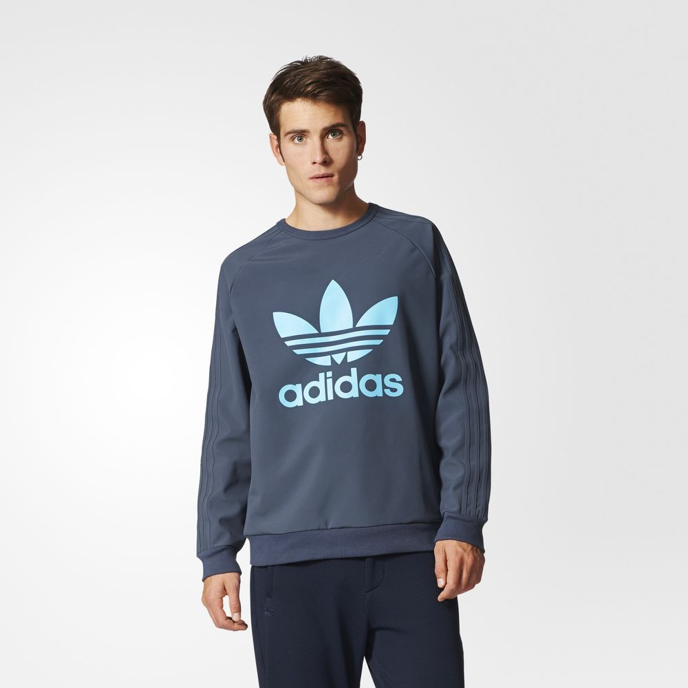 Sweatshirt Adidas Originals Tactical Tech Crew Barbati Albastri 63162841DW