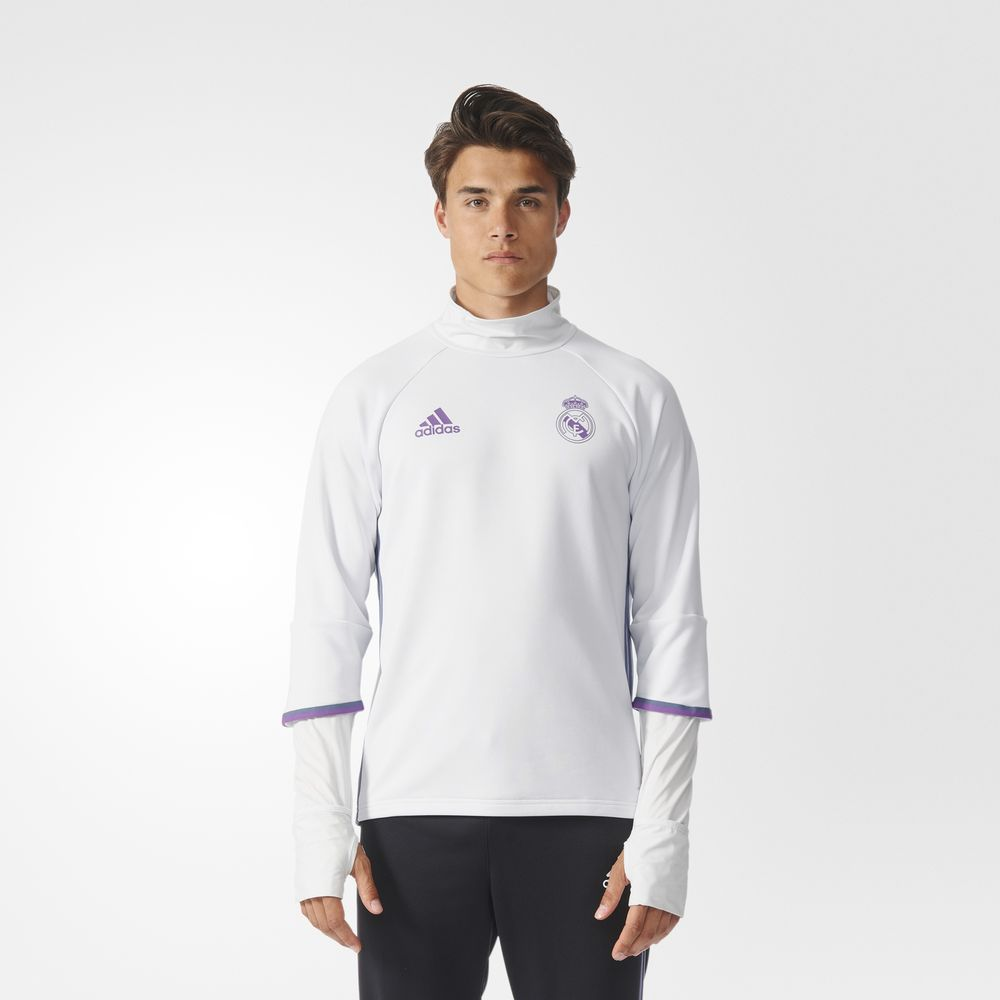 Sweatshirt Adidas Real Madrid Top Fotbal Barbati Albi/Violet 17547607WR